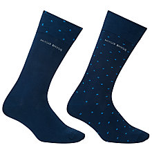 Buy BOSS Dot Socks, Pack of 2, Blue Online at johnlewis.com