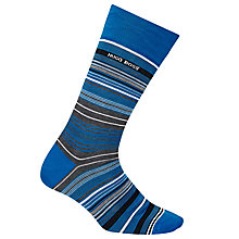 Buy BOSS Stripe Socks, Blue Online at johnlewis.com