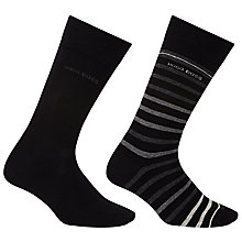 Buy BOSS RS Design Stripe and Plain Socks, Pair of 2 Online at johnlewis.com