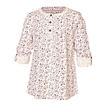 Buy Fat Face Girls' Ditsy Print Blouse, Cream/Cranberry Online at johnlewis.com