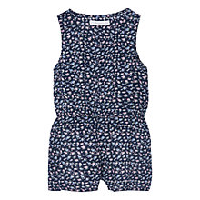 Buy Mango Kids Girls' Floral Print Playsuit, Navy Online at johnlewis.com