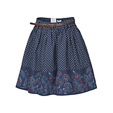 Buy Fat Face Girls' Floral Border Skirt, Navy Online at johnlewis.com