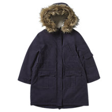 Buy Jigsaw Junior Girls' Parka With Star Print Lining, Navy Online at johnlewis.com