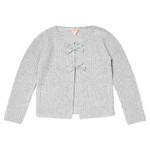 Buy Jigsaw Girls' Cashmere Blend Bow Cardigan, Grey Online at johnlewis.com