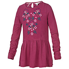 Buy Fat Face Girls' Embroidered Peplum T-Shirt Online at johnlewis.com