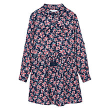 Buy Mango Kids Girls' Floral Print Dress, Navy Online at johnlewis.com