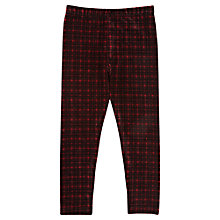 Buy Jigsaw Junior Girls' Velvet Tartan Leggings, Red Online at johnlewis.com