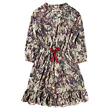 Buy Jigsaw Junior Girls' Orchid Floral Dress, Khaki Online at johnlewis.com