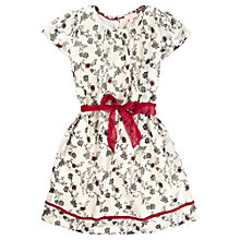 Buy Jigsaw Junior Girls' Blackberry Print Dress, White/Red Online at johnlewis.com
