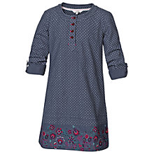Buy Fat Face Girls' Border Dress, Navy Online at johnlewis.com