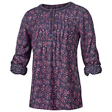 Buy Fat Face Cotton Girls' Ditsy Print Blouse, Navy/Cranberry Online at johnlewis.com