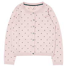 Buy Jigsaw Junior Girls' Polka Dot Cardigan, Pink Online at johnlewis.com