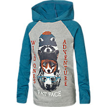 Buy Fat Face Boy's Totem Raglan Hooded Top, Grey Online at johnlewis.com