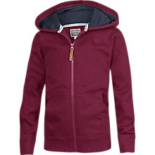 Buy Fat Face Boys' Adventure Zip Through Hoody, Burgundy Online at johnlewis.com