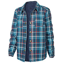 Buy Fat Face Boy's Reversible Check Shacket, Denim Online at johnlewis.com