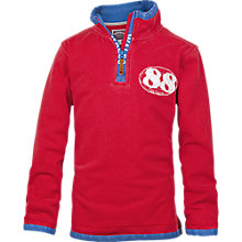 Buy Fat Face Boy's Wales Half Zip Top, Red Online at johnlewis.com
