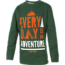 Buy Fat Face Boy's Adventure Long Sleeve T-Shirt, Green Online at johnlewis.com