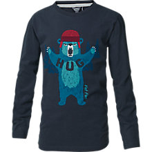 Buy Fat Face Boy's Long Sleeve Bear Hug T-Shirt, Blue Online at johnlewis.com
