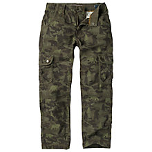 Buy Fat Face Boy's Bear Camouflage Cargo Trousers, Green Online at johnlewis.com