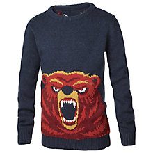 Buy Fat Face Boys' Bear Jumper, Navy Online at johnlewis.com