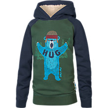 Buy Fat Face Boy's Bear Hug Hoody, Navy/Forest Green Online at johnlewis.com
