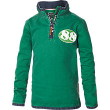 Buy Fat Face Boy's Ireland Half Zip Top, Green Online at johnlewis.com