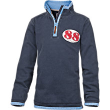 Buy Fat Face Boy's England Half Zip Top, Blue Online at johnlewis.com