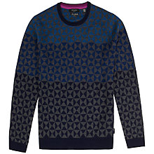 Buy Ted Baker Bluwall Geometic Wool Jumper Online at johnlewis.com