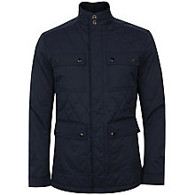 Buy Ted Baker Crocod Quilted Jacket, Navy Online at johnlewis.com
