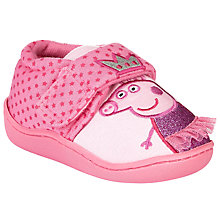 Buy Princess Pepper Rip-Tape Slippers, Pink Online at johnlewis.com