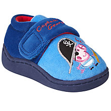 Buy Pirate Captain George Rip-Tape Slippers, Blue Online at johnlewis.com