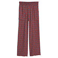 Buy Mango Flowy Palazzo Trousers, Red Online at johnlewis.com