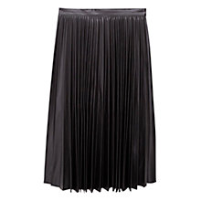 Buy Mango Pleated Midi Skirt, Black Online at johnlewis.com