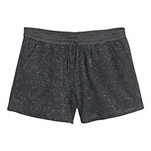 Buy Mango Gloss Effect Shorts, Black Online at johnlewis.com
