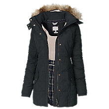 Buy Fat Face Mawgan Long Padded Coat, Phantom Online at johnlewis.com