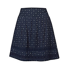 Buy Fat Face Matilda Triangle Geo Skirt, Navy Online at johnlewis.com