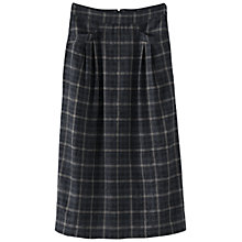Buy Poetry Wool Check Skirt, Charcoal Online at johnlewis.com