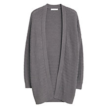 Buy Mango Textured Cotton Cardigan, Medium Grey Online at johnlewis.com