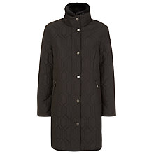 Buy Windsmoor Hexagon Quilted Coat, Black Online at johnlewis.com