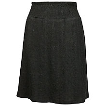 Buy Fat Face Jacquard Cable Jersey Skirt, Phantom Online at johnlewis.com