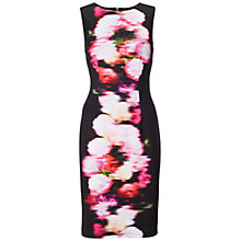 Buy Adrianna Papell Floral Print Sheath Dress, Black/Multi Online at johnlewis.com