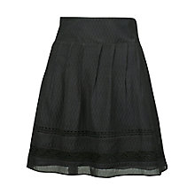 Buy Fat Face Matilda Lace Trim Skirt, Phantom Online at johnlewis.com