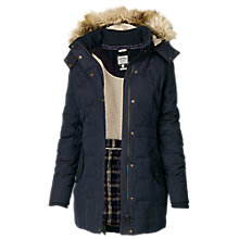 Buy Fat Face Mawgan Long Puffer, Blue Online at johnlewis.com