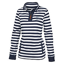 Buy Fat Face Heritage Stripe Half Neck Jumper, Navy Online at johnlewis.com