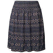Buy Fat Face Jacquard Stitch Skirt, Navy Online at johnlewis.com