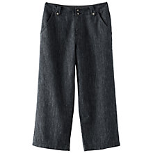 Buy Poetry Wide Cropped Trousers, Blue/Black Online at johnlewis.com