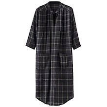 Buy Poetry Wool Check Tunic Dress, Charcoal Online at johnlewis.com