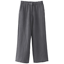 Buy Poetry Silk and Linen Trousers, Dark Grey Online at johnlewis.com