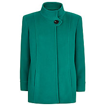 Buy Windsmoor Funnel Neck Wool Coat, Green Online at johnlewis.com