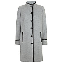 Buy Windsmoor Funnel Neck Trim Coat, Grey Online at johnlewis.com
